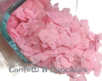 Heart Confetti, Pink Heart Tissue Paper Confetti, Pink Party Hearts, Wedding Confetti, Baby Shower Decor, confetti hearts, pink confetti