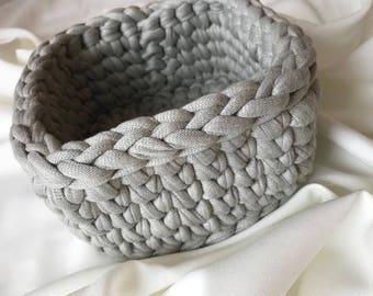 Gehäkelter Korb, Körbchen aus Textilgarn , Handarbeit, Geschenk zum Muttertag, Geburtstag, Aufbewahrung