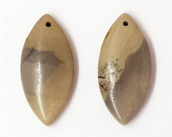 Chohua Jasper Pair of Marquise Earring Beads