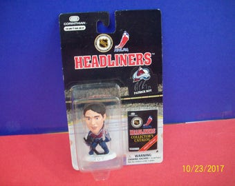 Patrick Roy Corinthian Headliner 1997 National Hockey Leaque Collectible  Sports Action Figure New On Card Great Christmas Gift