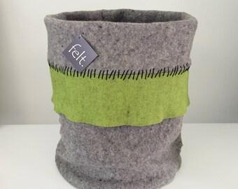 Wool Felt Storage Bin