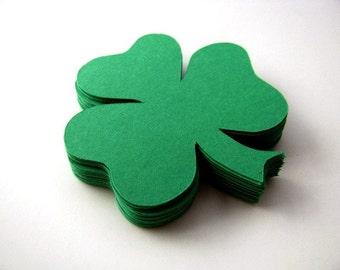 Shamrock Die Cut - Shamrock Embellishments - Saint Patrick's Day - Green Confetti - Clover Die Cut - Clover Confetti - Shamrcok Confetti