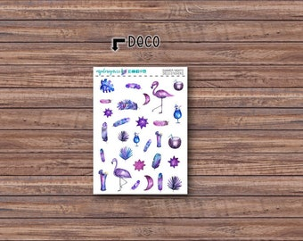 Summer Nights Deco Stickers | ECLP | Happy Planner | Recollections Planner