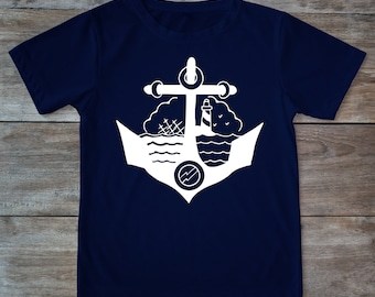 Anchor shirt, boat shirt, anchor tee, nautical shirt, tattoo shirt, tattoo flash, anchor tattoo, urban t shirt, urban fashion, inked tee