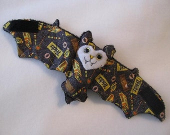 Trick or Treat Sparkle Cotton - Bat Coffee Cozy, Stuffed Animal