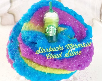 Cloud Slime, 8oz Starbucks Mermaid Frappuccino, Stretchy Slime, Slime Shop, Scented Slime, Instagram Slime, Lillycatboutique