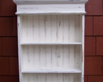 Distressed White Cabinet, Bathroom Cabinet, Kitchen Cabinet