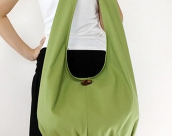 Handbags Canvas Bag Shoulder bag Sling bag Hobo bag Boho  bag Messenger bag Tote bag Crossbody Purse  Pea Green