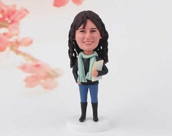 Teacher Christmas Ornament,Teacher Gift Best Greatest Teacher, 2016 Teacher Ornament, School House Ornament, Custom Bobblehead