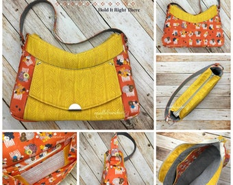 BELLA LUNA - PDF Sewing Pattern - Hobo bag with built in Wallet - by Hold it Right There