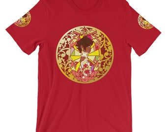 Team Valor Candela Moltres Pokemon Go Red Team Fan Art Sleeve Printed Rococomon Art by Sugandya Short-Sleeve Unisex T-Shirt