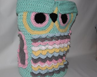 Baby Owl Cocoon with cap/75cm high/#crochet