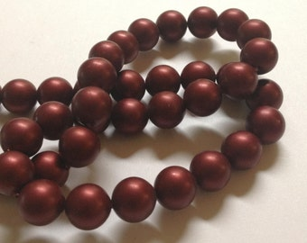 Cranberries - German Acrylic Beads - 10mm - Full Strand - Cranberry Color