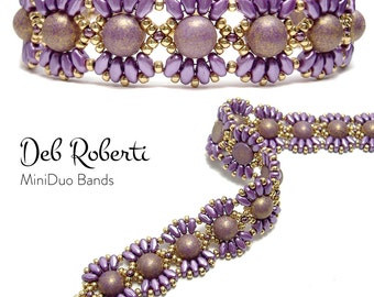 MiniDuo Bands beaded pattern tutorial by Deb Roberti