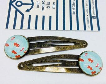 Hair clips Japan carp