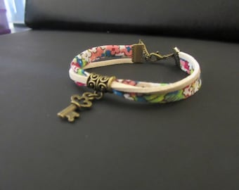 Liberty bracelet with key charm