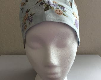 Women's Cancer Hat - Chemo Hat - Scrub Cap - Hair Loss - Head Coverings - Chemo Comfort - Flowers and Lace