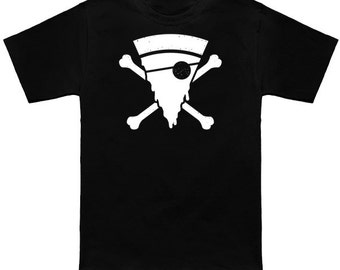 Kid's Pirate Pizza skull and crossbones  graphic T-shirt