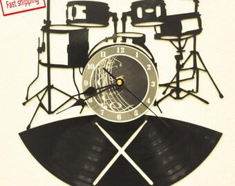 Drum Clock Etsy