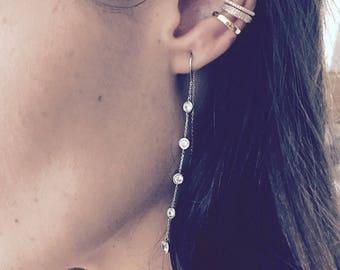Diamond cz ear cuff SET of 2!