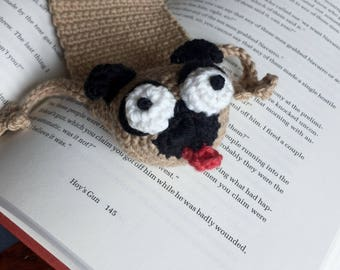 Book PUG Crocheted Bookmark | New Wacky Bookmark Listing For 2018 | Dog Lover Gift | Pugalicious Book Lover Gift | Library Essential