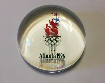 1996 Atlanta Olympic Glass Paperweight
