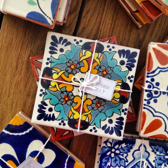 Mexican Wedding Favors Ideas: 50 Mexican / Spanish Tiles Customized Wedding Favors And