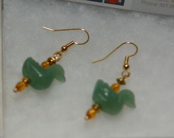 Jade Duck Earrings J2