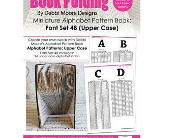 Debbi Moore Book Folding Pattern Book Alphabet Miniature Font Set 4B (Upper Case)