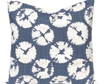 Nautical Nursery Pillows - Blue Pillow Covers - Baby Boy Nursery - Navy Blue Nursery - Sand Dollars - Beach Nursery Decor - Beach Decor