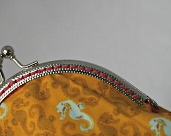 Seahorse coin purse.