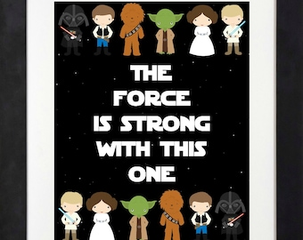 Star Wars Printable < Star Wars Birthday Party < Star Wars Bedroom < The Force is Strong With This One < Yoda < Han Solo < Darth Vader