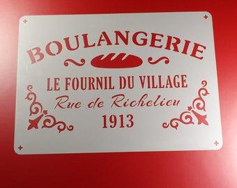 Stencil Boulangerie Baking Shabby-BS16