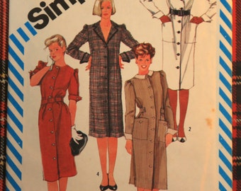 6149 Simplicity Size 10  Bust 32 1/2 Dress 1983 Vintage Sewing Pattern