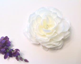 White Rose  Bridal Flower Hair Pin Wedding Hair Accessory Hair Pin Bridal Hair Pin White Rose Prom  Hair Pin - Ready  to Ship!