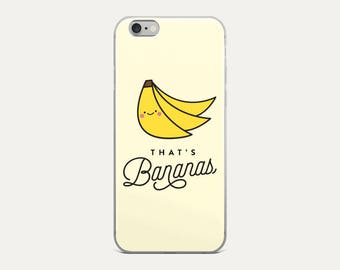 That's Bananas iPhone Case, iPhone 8, X, iPhone 7, iPhone 7 Plus, iPhone 6, iPhone 6s, iPhone 6 Plus,  Cute, Kawaii