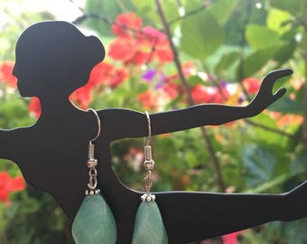 Crystal Turquoise Drop Earring