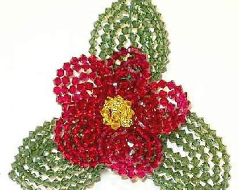 Swarovski Bead Flower Pins