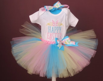 Infant Easter Tutu Baby Easter Tutu Toddler Easter Tutu Toddler Easter Onesie Can be made in any size  Size: 24 Month Ready to go
