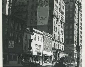 Scranton PA street view vintage photo