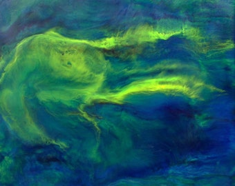 """Original Encaustic Painting — 12"""" x 12"""" 