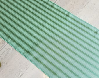 Green Table Runner - Satin Stripe, FREE SHIPPING, Made in America, Eucalyptus Green
