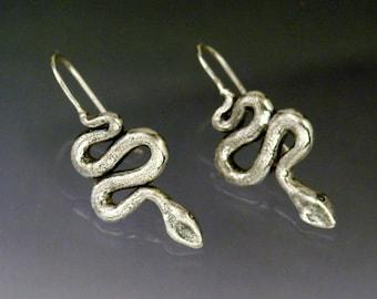 Hanging Snake Earrings