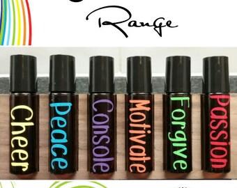 Emotional set, 6 labels to match the DoTERRA emotional range for 10ml roller bottles