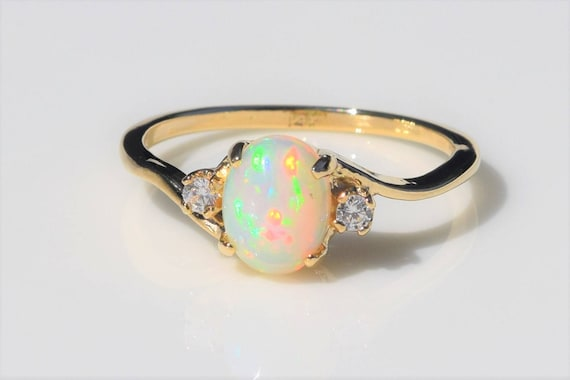 icon opal ring london solid aura mini uk astley clarke gold yellow