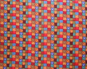 22 X 18 Multi Color Patchwork Print Fat Quarter Cotton Fabric