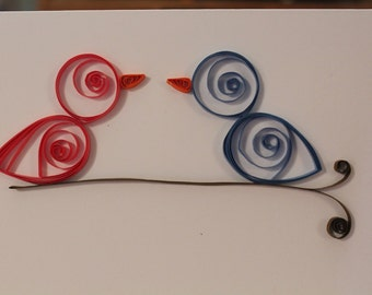 Quilled Bird Cards