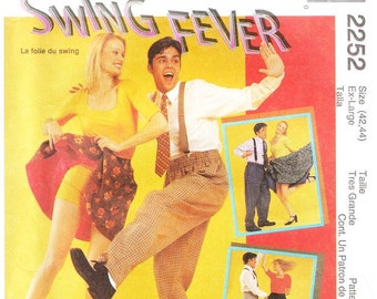 McCall's 2252 Misses' and Men's Swing Dance Costumes Pattern, XL
