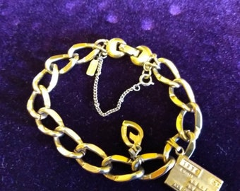 Monet chain link bracelet Gold