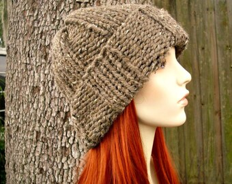 Brown Mens Hat Brown Womens Hat - Watchman Cap Beanie Barley Brown Knit Hat Brown Hat Brown Beanie Womens Accessories